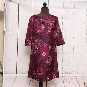 BANANA REPUBLIC Womens Paisley Silk Dress Size 0